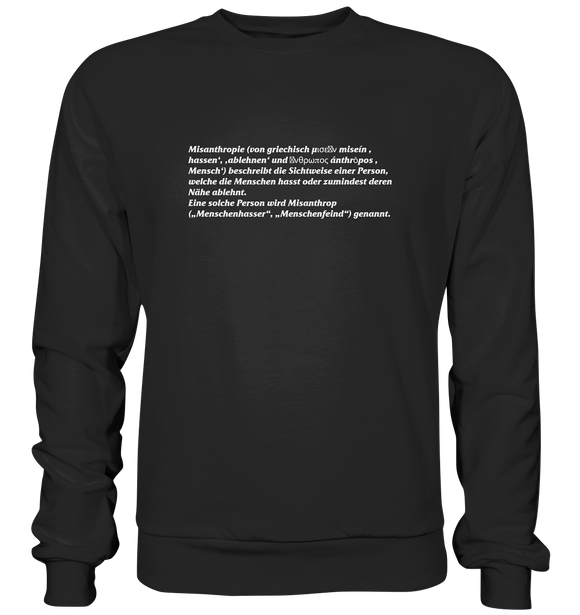Misanthrop Wiki - Basic Sweatshirt - King Of Shirts