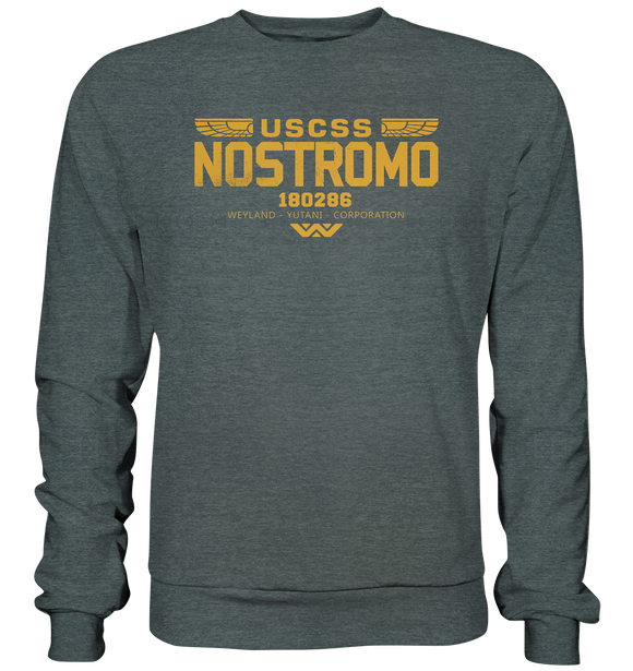 USCSS Nostromo - Basic Sweatshirt - King Of Shirts - Lustige T-Shirts und Merchandise
