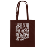 Rappers Delight The Hiphop Lyrics - Baumwolltasche - King Of Shirts