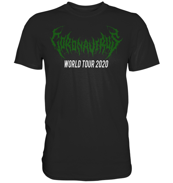 Coronavirus Metal T-Shirt World Tour 2020 - Classic Shirt - King Of Shirts