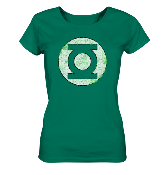 Sheldon Cooper - Green Lantern - Ladies Organic Shirt - King Of Shirts