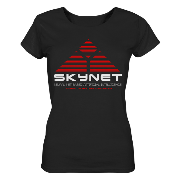 Skynet Logo - Ladies Organic Shirt - King Of Shirts - Lustige T-Shirts und Merchandise