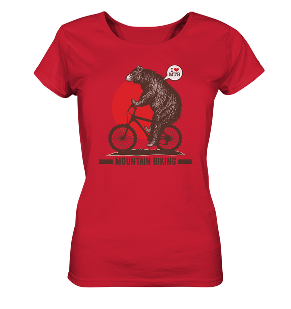 I love Mountain Biking - Ladies Organic Shirt - King Of Shirts
