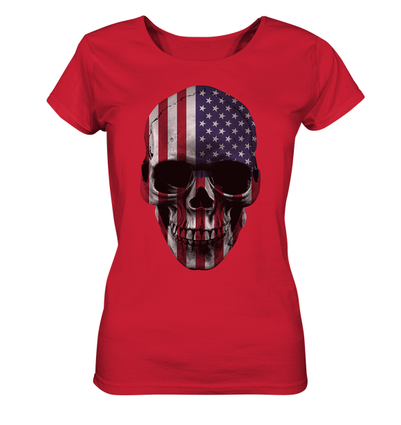 USA Biker Totenkopf - Ladies Organic Shirt - King Of Shirts