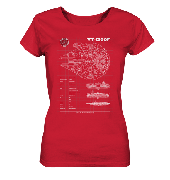 Millenium Falcon - Blaupause - Ladies Organic Shirt - King Of Shirts