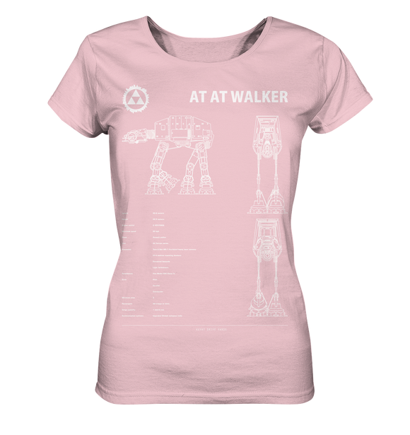 AT AT Walker - Blaupause - Ladies Organic Shirt - King Of Shirts