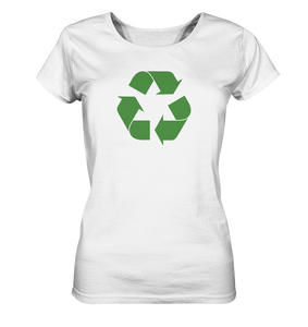 Sheldon Cooper - Recycling Logo - Ladies Organic Shirt - King Of Shirts