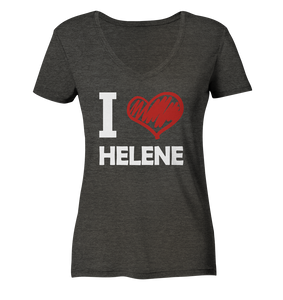 I Love Helene - Ladies Organic V-Neck Shirt - King Of Shirts