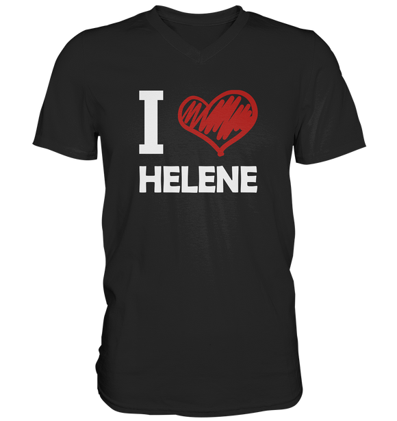 I Love Helene - Mens V-Neck Shirt - King Of Shirts