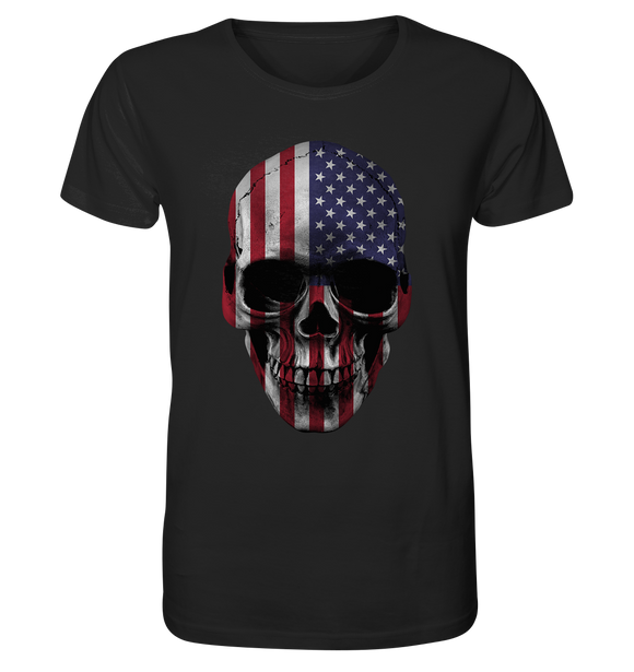 USA Biker Totenkopf - Organic Shirt - King Of Shirts