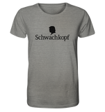 Trump Schwachkopf - Organic Shirt (meliert) - King Of Shirts