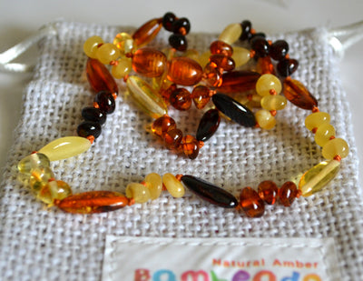 Adult Amber Necklace Bud and Bean