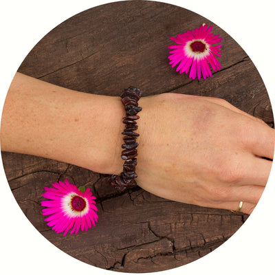 Adult Amber Bracelet Nugget - Dark Cherry