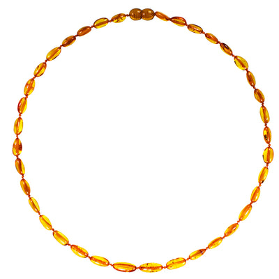 Adult Amber Necklace Bean - Honey
