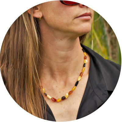 Adult Amber Necklace Bean - Mixed