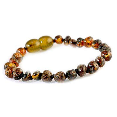 Baby Amber Anklet Bud - Green