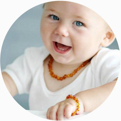 Baby Amber Teething Necklace Bud - Honey