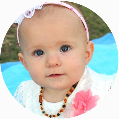 Baby Amber Teething Necklace Bud - Mixed
