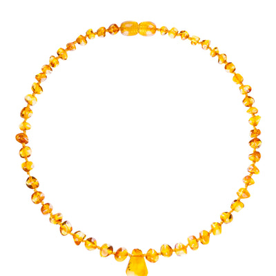Baby Amber Necklace Pendant - Honey