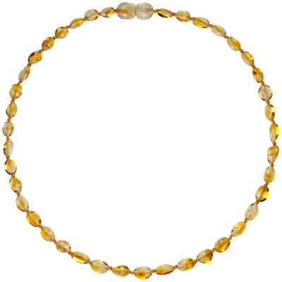 Child Amber Necklace Bean - Honey