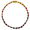 Child Amber Necklace Bean - Rainbow