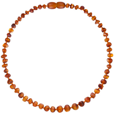 Child Amber Necklace Raw - Cognac
