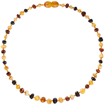 Child Amber Necklace Raw - Mixed