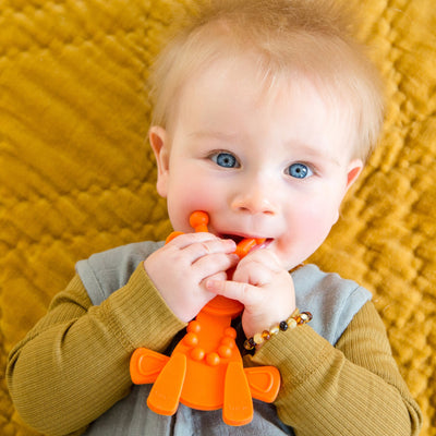 Little bamBAM Baby Teething Toy – Orange