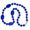 Silicone Teething Necklace - Amalie Shape - Cobolt
