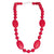 Silicone Teething Necklace - Amalie Shape - Red