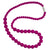 Silicone Teething Necklace, Round Bead - Crimson