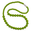 Silicone Teething Necklace, Round Bead - Lime