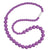 Silicone Teething Necklace, Round Bead - Purple