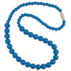 Silicone Teething Necklace, Round Bead - Sky Blue