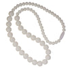 Silicone Teething Necklace, Round Bead - White