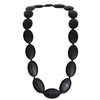 Silicone Teething Necklace - Seed Shape - Black