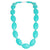 Silicone Teething Necklace - Seed Shape - Turquoise