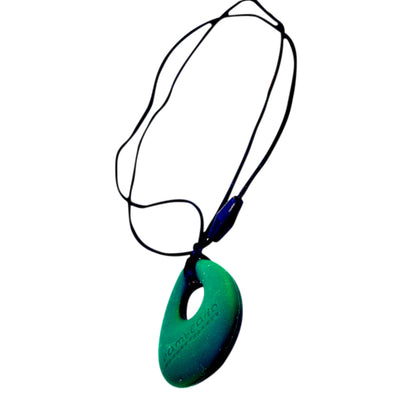 Silicone Teething Necklace - Tear Drop Pendant
