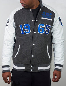X 1965 BLUE Letterman Varsity - blacknugly