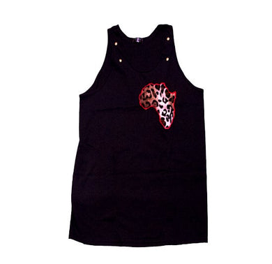 Leopard Patch Tank-top (available in purple) - blacknugly