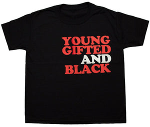Kids Young Gifted Black Tee - blacknugly