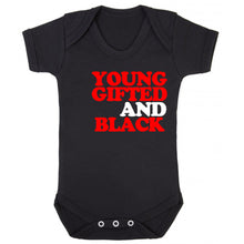 Load image into Gallery viewer, Young Gifted Black Onesie (available in any color) - blacknugly