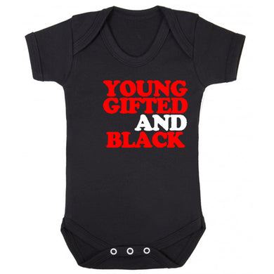 Kids Young Gifted Black Onesie (available in any color) - blacknugly