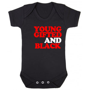 Young Gifted Black Onesie (available in any color) - blacknugly