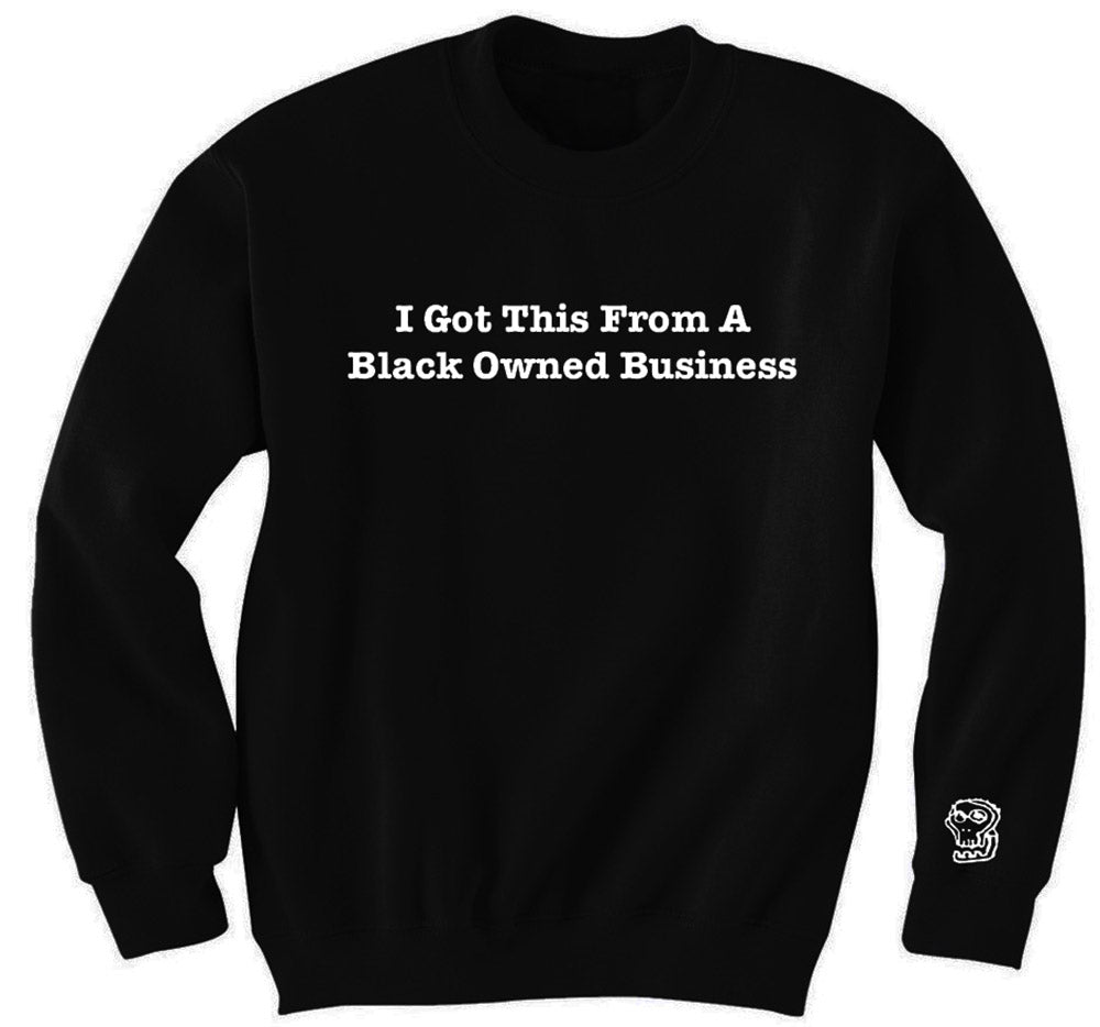 Support Black Business Sweater - blacknugly