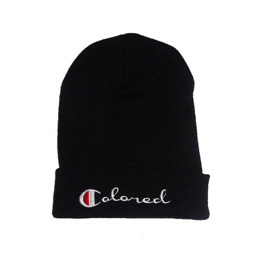 Colored Champion Beanie - blacknugly