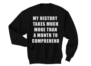 My History Sweater - blacknugly