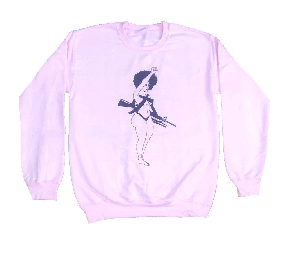 Militant Shawty Blush Pink Sweater - blacknugly