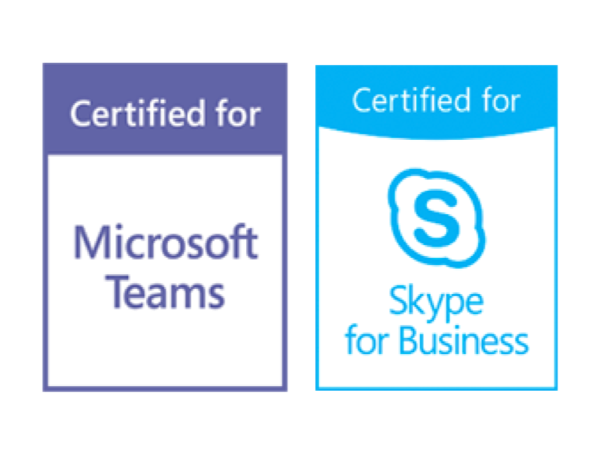 Microsoft Teams and Skype for Business certified
