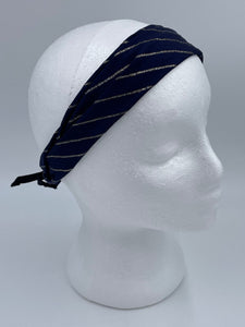 Splash Happy Silk Headband Navy Gold
